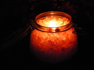 DYI Himalayan Salt Candle Holder Jar Handmade Gift Craft Project 4