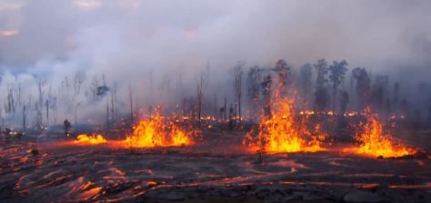 Hawaii Volcanoes Fissure Eruption