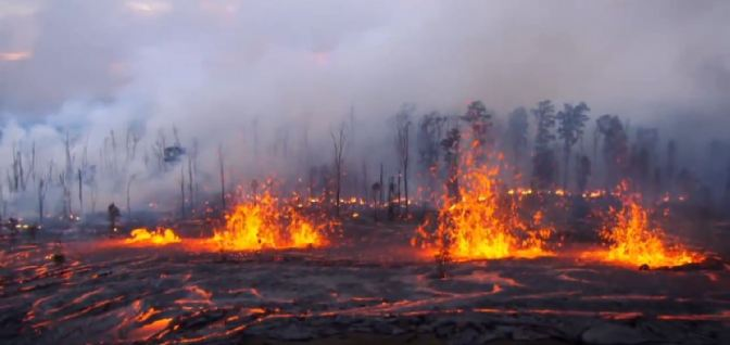 Hawaii Volcanoes Fissure Eruption