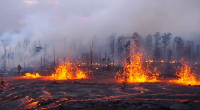 Hawaii Volcanoes Fissure Eruption of 2011