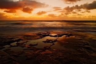 Awesome Orange Ocean Scene