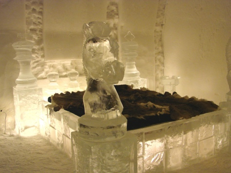 Ice Hotel Room Bed