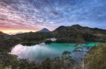 Sunset Mountains lake