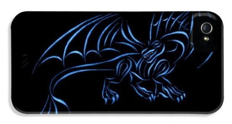 iphone 4 cases - Dragon Blue